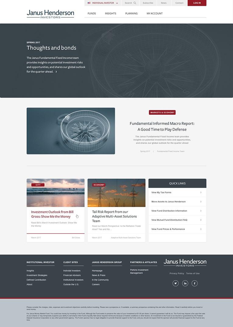 Atomic Design Page on Janus Henderson's Website