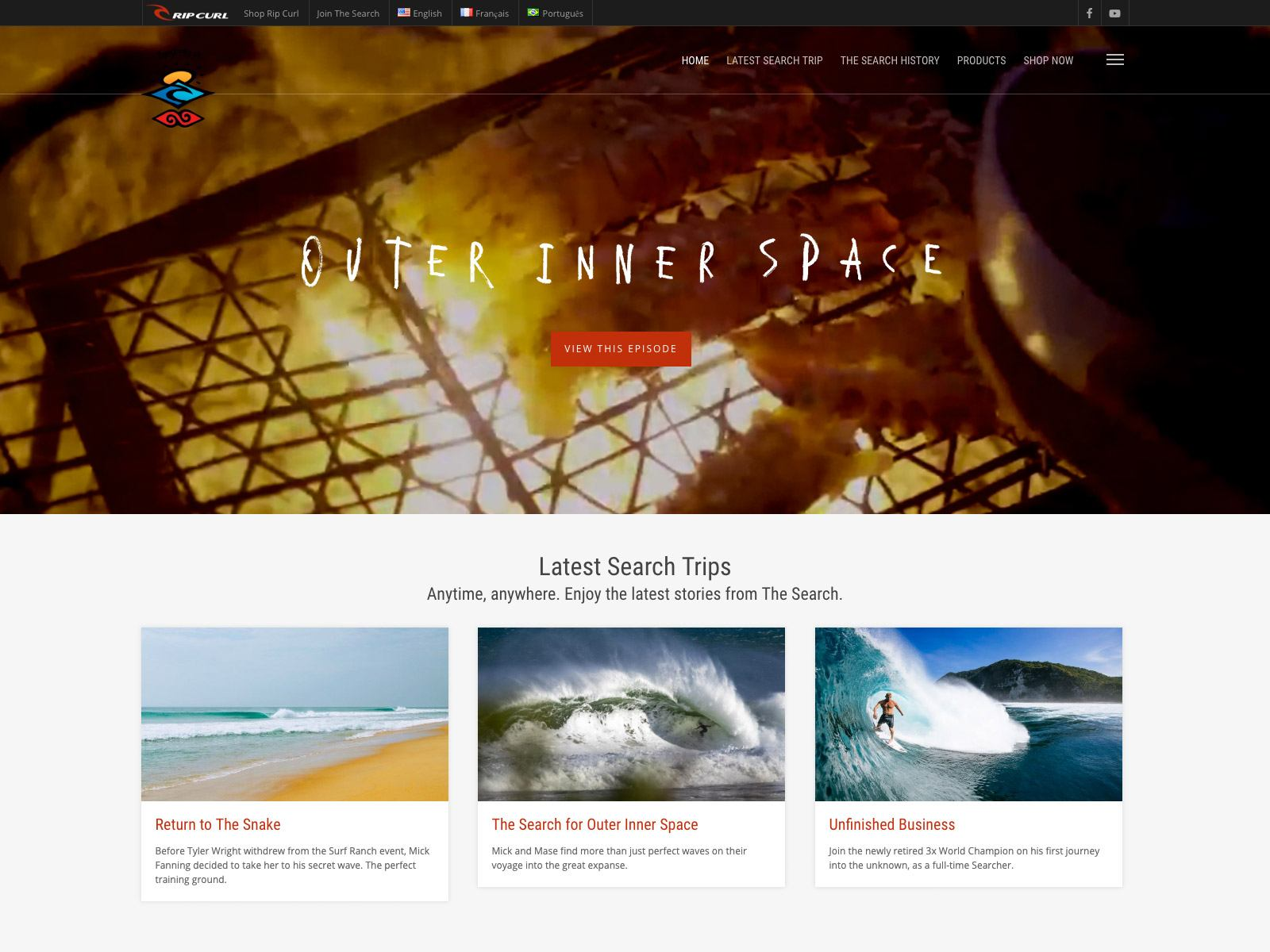The Search, a stellar digital experience for Rip Curl customers