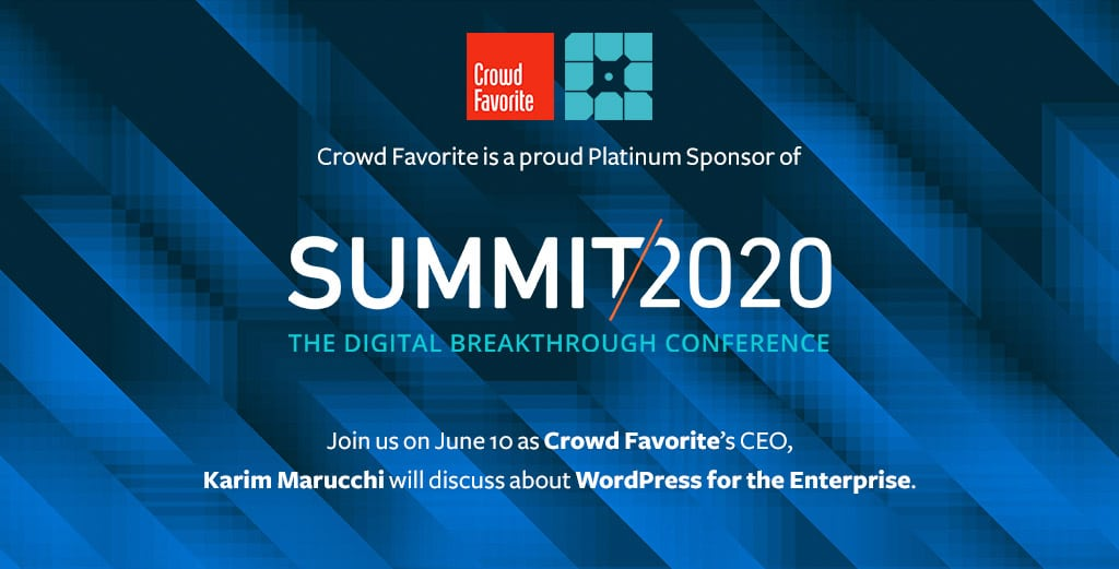 Join Crowd Favorite for WP Engine Summit/2020